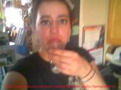 vanessa spitting her boss's cum in a glass
