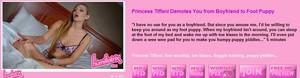 Princess Tiffani Demotes You from Boyfriend to Foot Puppy
